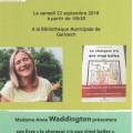 Rencontre avec Anne Waddington à la bibliothèque de Garidech