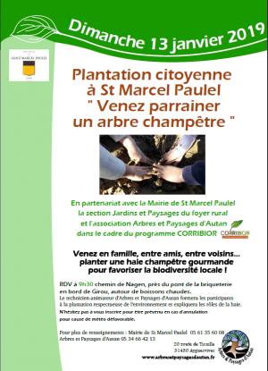 Plantation citoyenne à Saint Marcel Paulel
