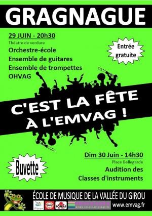 L'école de musique de Gragnague en fête