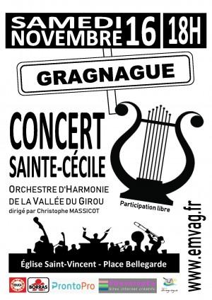 Concert de la Sainte Cécile à Gragnague