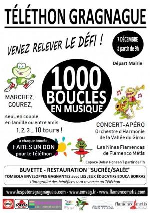 1000 boucles de musique pour le téléthon à Gragnague