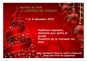 Marché de Noël à Lapeyrouse-Fossat