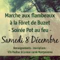 Marche aux flambeaux à la forêt de Buzet et soirée Pot-au-feu à Paulhac