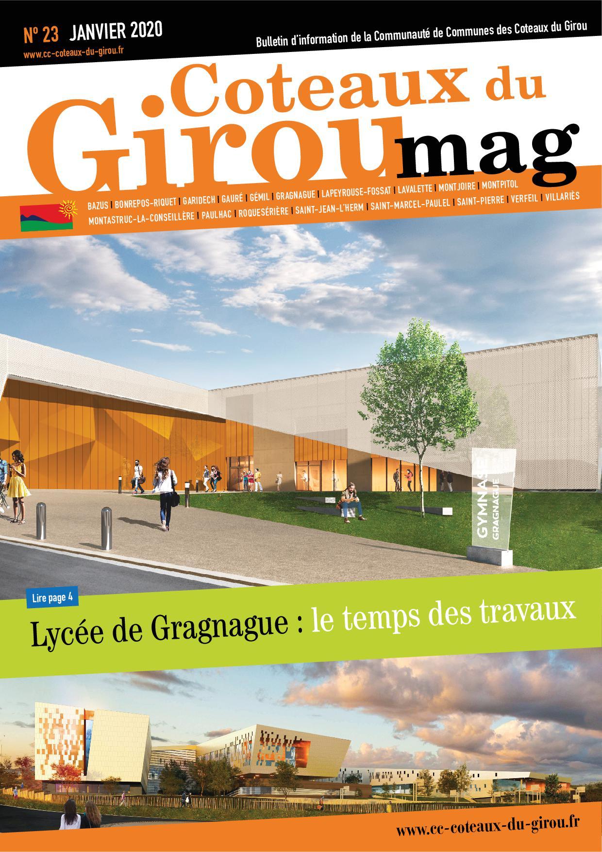 Première page du bulletin Caoteaux du Girou Mag