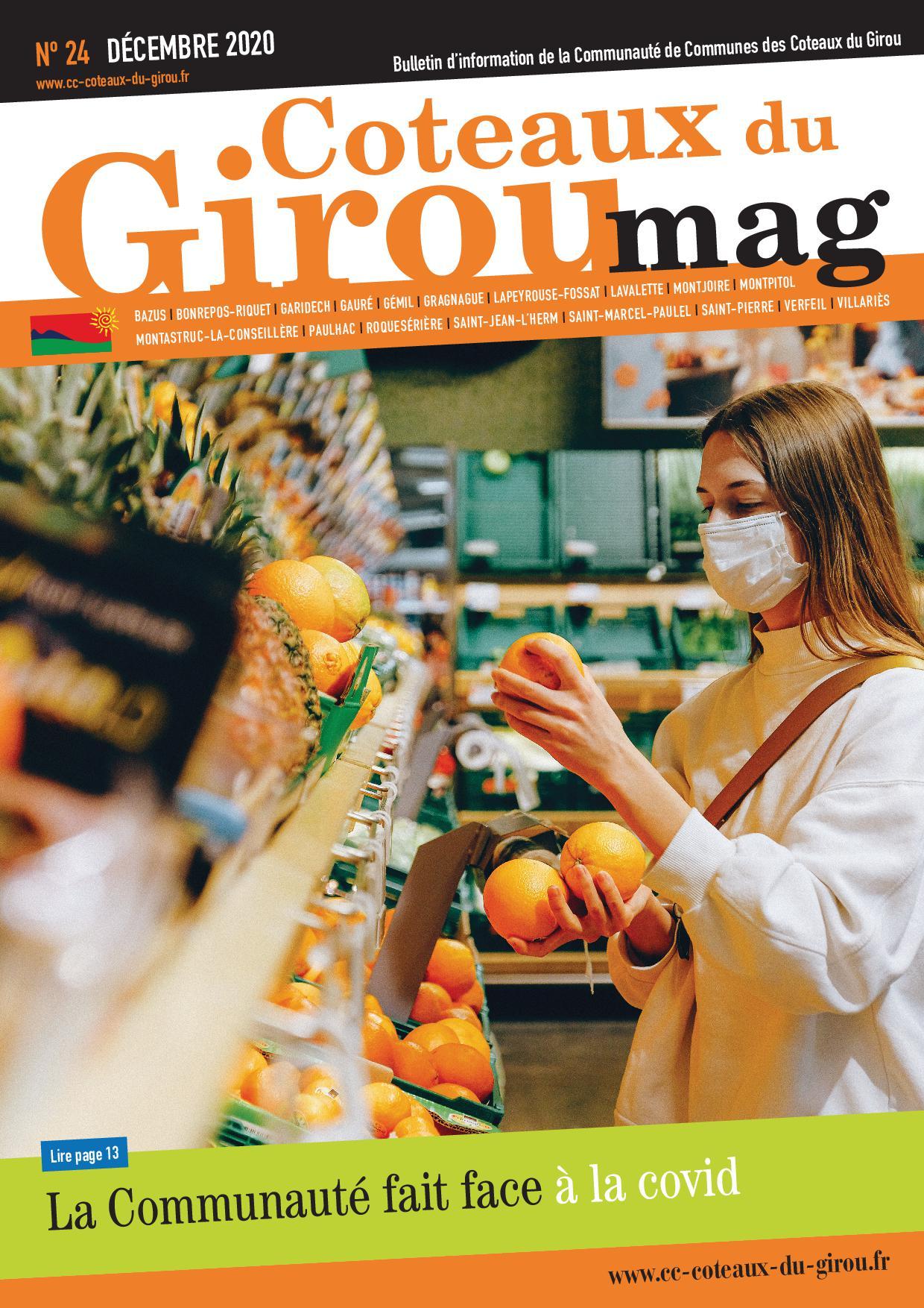 Première page du bulletin Coteaux du Girou Mag