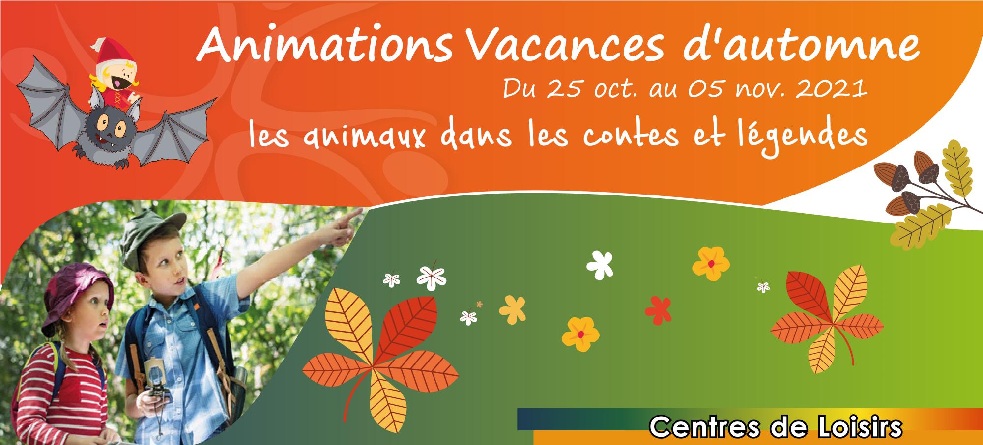 Centres de Loisirs - Vacances d'automne