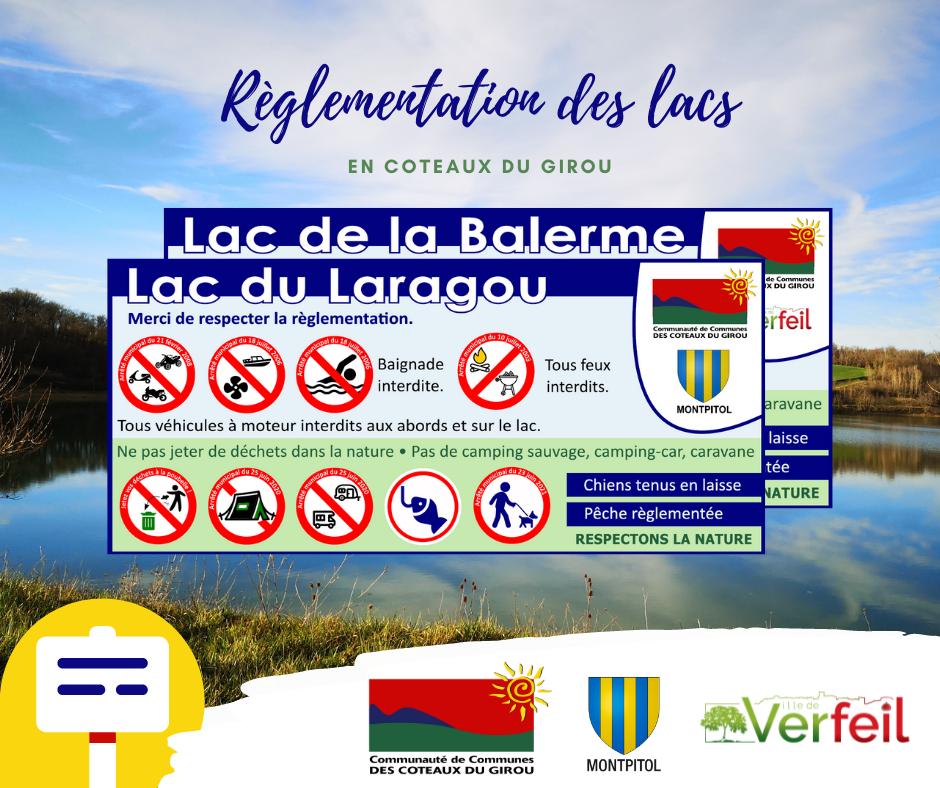 Règlementation des lacs